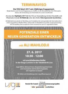 POTENZIALE EINER  NEUEN GENERATION ENTWICKELN  mit ALI MAHLODJI @ Tabakfabrik